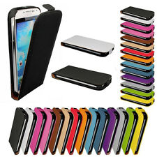 New Magnetic Flip Series Leather Skin Case Cover For Samsung Galaxy Apple iPhone