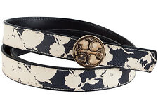 Tory Burch Printed Reversible Logo Belt-Blue