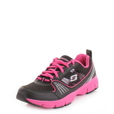 SKECHERS UNINTERRUPTED STOLEN BLACK PINK GYM FITNESS RUNNING TRAINERS SIZE 3-8