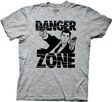 Archer FX Danger Zone Sterling Aiming Licensed NWT Adult T-Shirt - Grey
