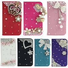 1PC Rhinestone Wallet Leather Bling Cover For Samsung Galaxy S4 i9500 Vogue