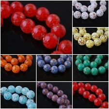 14mm Round Czech Glass Gold Foil Dot Beads Spacer Bracelet&Necklace Findings NEW