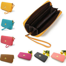 Women Designer Leather Style Wallet Zip Around Lady Long Girl Handbag Coin Purse