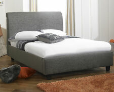 Designer Italian Chenille Fabric Bed Frame 8 Different Colors Fast Delivery!