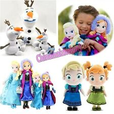"FREE Movie Elsa Anna Olaf Snowman Kid Toy 16"" 20"" Teddy Toys Plush Dolls Party"