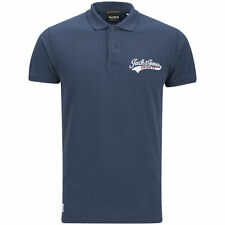 Jack and Jones Access Polo EXP 13 Track & Field Blue Polo Shirt Navy Blue