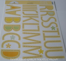 "DOODLEBUG SEW SIMPLE 2 1/2"" ABC STICKERS U CHOOSE ITEM TO PURCHASE"