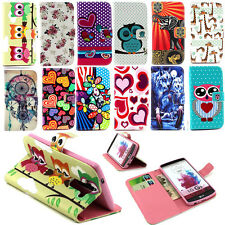 PU Leather Magnetic Wallet Flip Stand Cover Case For Samsung Galaxy Apple iPhone