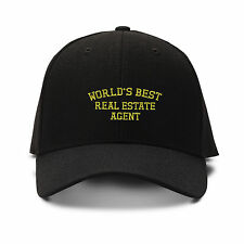 Worlds Best Real Estate Agent Embroidery Embroidered Structured Hat Cap
