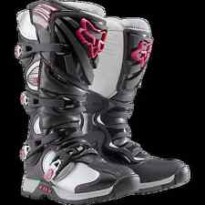 MotoX Dirt Bike Girl-Power Fox Racing COMP 5 RIDING BOOT Pink Logo Women US5-11