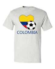 Colombian Soccer Colombia Football Unisex Cotton T-Shirt Tee Top