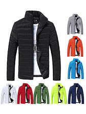 Men's Winter Leisure Stand Collar Slim Fit Cotton-Padded Thick Warm Jacket Coat