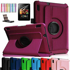 360 Rotating PU Leather Case Cover w Stand For Amazon Kindle Fire HD & HDX 8.9""