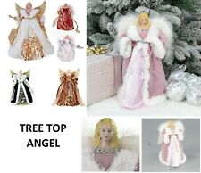 "12"" TREE TOP TOPPER  ANGEL WITH WINGS FESTIVE CHRISTMAS XMAS FAIRY DECORATION"