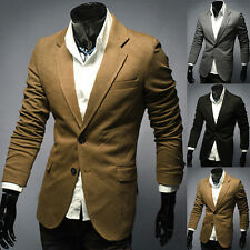 New Two Button Fashion Mens Stylish Casual Slim Fit Suit Blazers Coat Jacket
