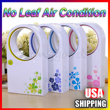 1 Portable USB Mini Bladeless Fan Refrigeration Desktop No Leaf Air Conditioner