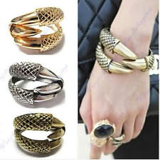 New Dragon Clamp Design Gothic Punk Rock Bird Claw Eagle 3 Talon Bangle Bracelet