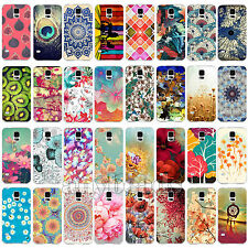 For Samsung Galaxy S4 S5 New Hot Flowers Pattern Phone Hard Back Skin Case Cover
