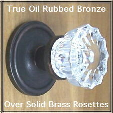 Knob Set Depression Crystal Reproduction w/our Time Tested HW~Oil Rubbed Bronze
