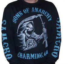 SOA Sons of Anarchy Charging Reaper Long-Sleeved T-shirt ( NEW ) SOA79