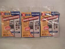 """Freez A Frame Magnetic Photo Pockets Holds 2 1/2"""" x 3 1/2"""" Picture 3, 6 or 9"""