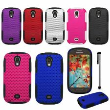 For Samsung Galaxy Light T399 T-Mobile Apex Perforated Impact Cover + Stylus NEW