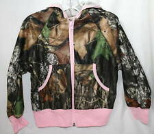 MOSSY OAK CAMOUFLAGE & PINK GIRLS JACKET - CAMO YOUTH