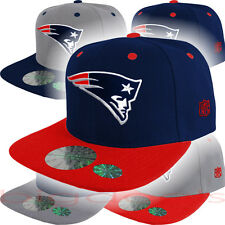 New England Patriots Cap Logo Hat NFL Football Snap Back Embroidered On Field 3D