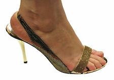 HOLLYWOOD HEELS MONALISA WOMENS/LADIES DRESS SHOES/SANDALS/EVENING DIAMONTEE