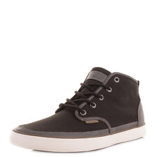 MENS JACK AND JONES HARVARD PIRATE BLACK HI-TOP CASUAL TRAINERS BOOTS SIZE