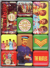 The Beatles OFFICIAL Sgt Pepper or Yellow Submarine Gift Box 9 Fridge Magnet Set