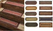 SET of 15 Braided Jute Stair Treads Tread Rugs Rug Oval or Rectangle 24 COLORS