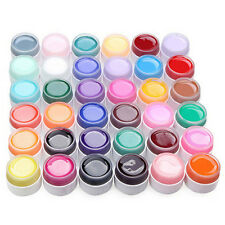 36 Pure Colors Shiny Extension Nail Art UV Gel Builder Tips Glue Manicure Decor
