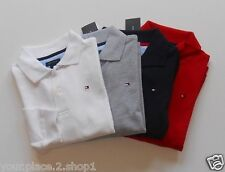 Tommy Hilfiger Boys Long Sleeve Solid Polo Shirt Size 2-7 Available