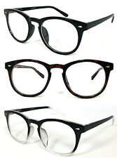 Round Clubmaster Wayfarer Men Women Blended No Line Bifocal Reading Glasses RE39