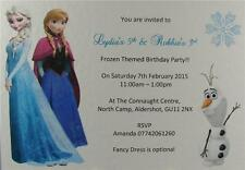 10 White Elsa Anna Frozen Personalised Birthday Party Invitations Or Thank You