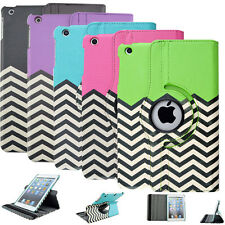 360 Rotating Leather Swivel Flip stand Case Cover For iPad 2 3 4 5 mini 1 2 Air2
