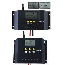 Adjustable LCD 30A 60A 12/24V Solar Panel Battery Charge Controller Regulator BS