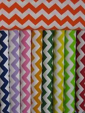 "Porta crib SHEET - PACK & PLAY Chevron 1"" Fabric UPICK red blue gray blue pink"