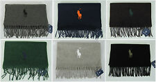 Polo Ralph Lauren scarf men's big pony lambswool winter scarf NEW