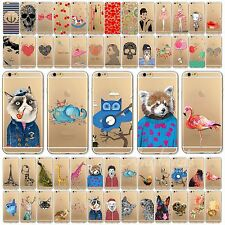 0.3mm Soft TPU Hot Painted Pattern Case Cover for Apple iPhone 4 4S 5 5S 6 6Plus