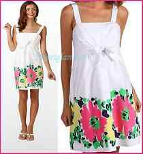 $178 Lilly Pulitzer Avaline Resort White Doodle Bug Daisy Placed Floral Dress