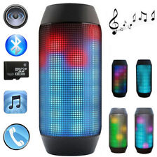 PULSE Wireless Bluetooth Speaker w/Custom LED Light Show for Party Music with FM