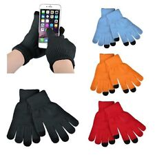 Womens Warm Magic Stretch Text Gloves Smartphone Texting Touch Screen One Size