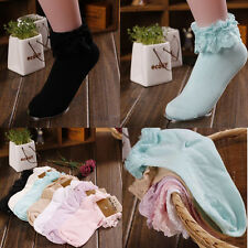Princess Girl Cute Sweet Women Ladies Vintage Lace Ruffle Frilly Ankle Socks LX