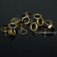 Antique Brass Size 4/5/6/8/10/12/14/17mm Solid Brass Eyelets w/washer Grommets