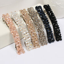 Fashion Glass Crystal Hair clip Hair Accessories Spring Clip Headdress best gift
