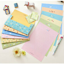 BNWT Cute&Lovely Animals Letter set - 4sh Writing Stationary Paper 2sh Envelope