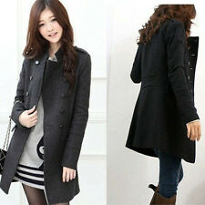 2014 Womens Cashmere Long Winter Coat Trench Blazer Suit Jacket Outwear New
