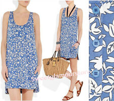 $285 Diane von Furstenberg DVF 1974 Jendayi Leaf Meadow Blue Silk Jersey Dress